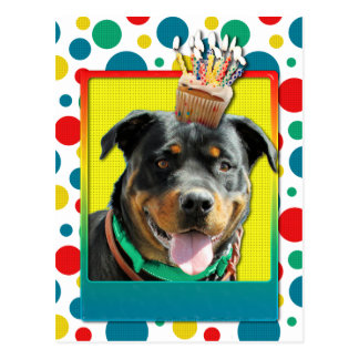 Birthday Cupcake - Rottweiler - SambaParTi Post Card