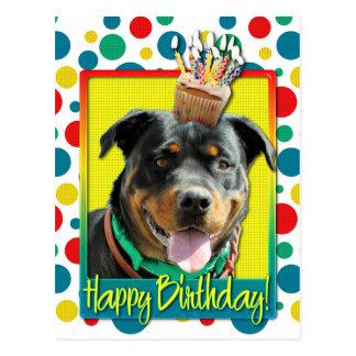 Birthday Cupcake - Rottweiler - SambaParTi Post Cards