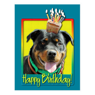 Birthday Cupcake - Rottweiler - SambaParTi Postcard