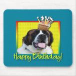 Birthday Cupcake - Saint Bernard - Mae Mouse Pads