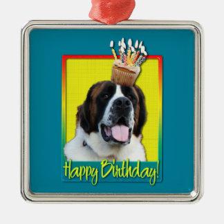 Birthday Cupcake - Saint Bernard - Mae Ornaments