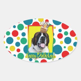 Birthday Cupcake - Saint Bernard - Mae Sticker
