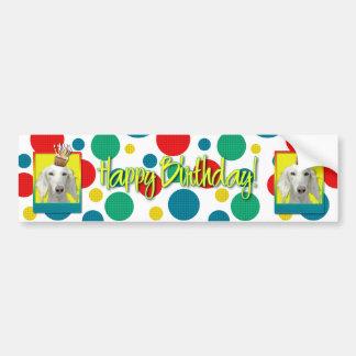 Birthday Cupcake - Saluki Bumper Sticker