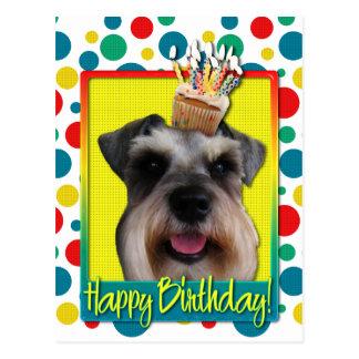 Birthday Cupcake - Schnauzer Postcard