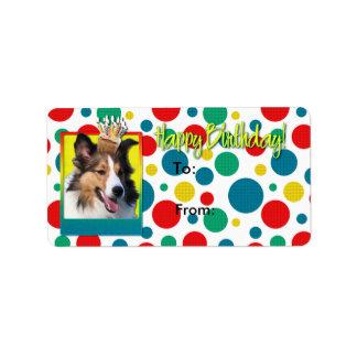 Birthday Cupcake - Sheltie Label