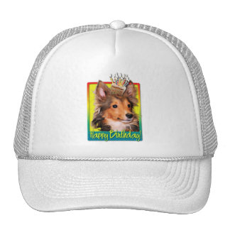 Birthday Cupcake - Sheltie Puppy - Cooper Trucker Hat