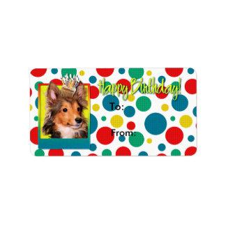 Birthday Cupcake - Sheltie Puppy - Cooper Label