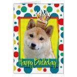 Birthday Cupcake - Shiba Inu Greeting Card