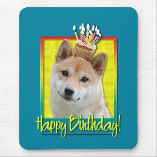 Birthday Cupcake - Shiba Inu Mouse Pad
