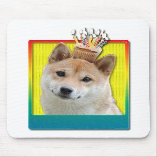 Birthday Cupcake - Shiba Inu Mousepad