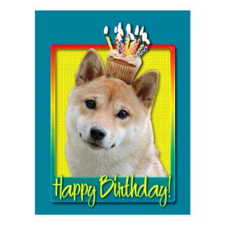 Birthday Cupcake - Shiba Inu Postcard