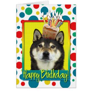 Birthday Cupcake - Shiba Inu - Yasha Card