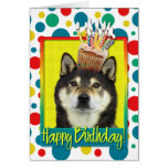 Birthday Cupcake - Shiba Inu - Yasha Greeting Card