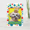 Birthday Cupcake - ShihPoo - Maggie Cards