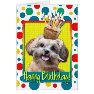 Birthday Cupcake - ShihPoo - Maggie Cards