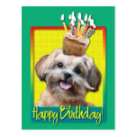 Birthday Cupcake - ShihPoo - Maggie Post Cards