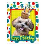 Birthday Cupcake - ShihPoo - Maggie Postcard