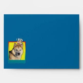 Birthday Cupcake - Siberian Husky - Copper Envelopes