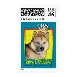 Birthday Cupcake - Siberian Husky - Copper Stamp