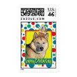 Birthday Cupcake - Siberian Husky - Copper Stamps