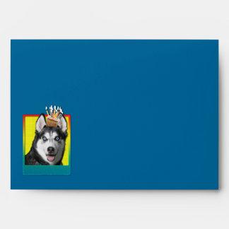 Birthday Cupcake - Siberian Husky Envelope
