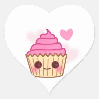 Birthday Cupcake- Smiling Heart Sticker