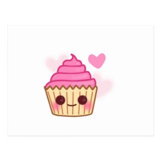 Birthday Cupcake- Smiling Postcard
