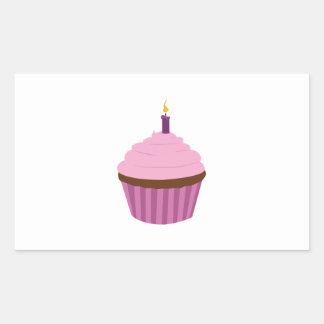 Birthday Cupcake Rectangle Stickers