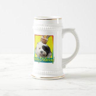 Birthday Cupcake - Tibetan Terrier Beer Stein
