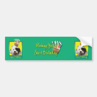 Birthday Cupcake - Tibetan Terrier Bumper Sticker