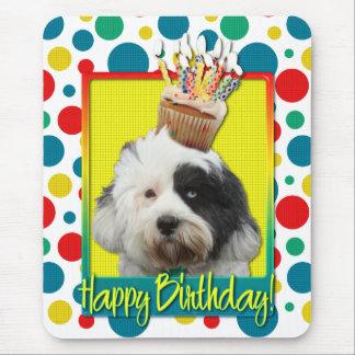Birthday Cupcake - Tibetan Terrier Mouse Pad