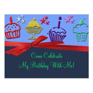 Birthday Cupcake Treat Surprise Postcard