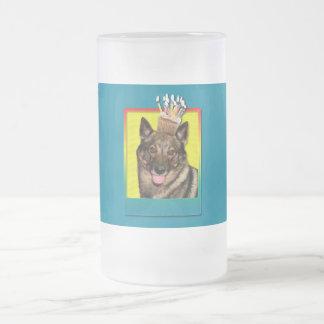 Birthday Cupcake - Vallhund Frosted Glass Beer Mug