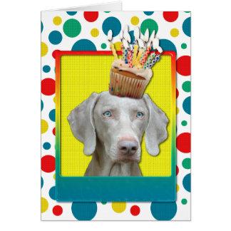 Birthday Cupcake - Weimeraner Card