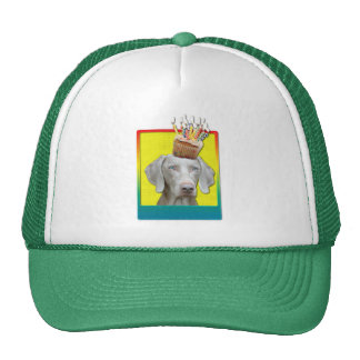 Birthday Cupcake - Weimeraner Trucker Hat