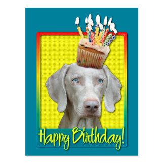 Birthday Cupcake - Weimeraner Postcard