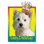 Birthday Cupcake - West Highland Terrier Photo Cutouts
