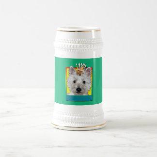 Birthday Cupcake - Westie - Tank Beer Stein