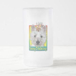 Birthday Cupcake - Westie - Tank Frosted Glass Beer Mug