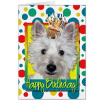 Birthday Cupcake - Westie - Tank Greeting Card