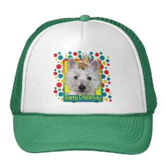 Birthday Cupcake - Westie - Tank Trucker Hat