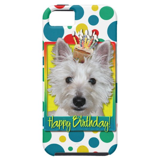 Birthday Cupcake - Westie - Tank iPhone SE/5/5s Case