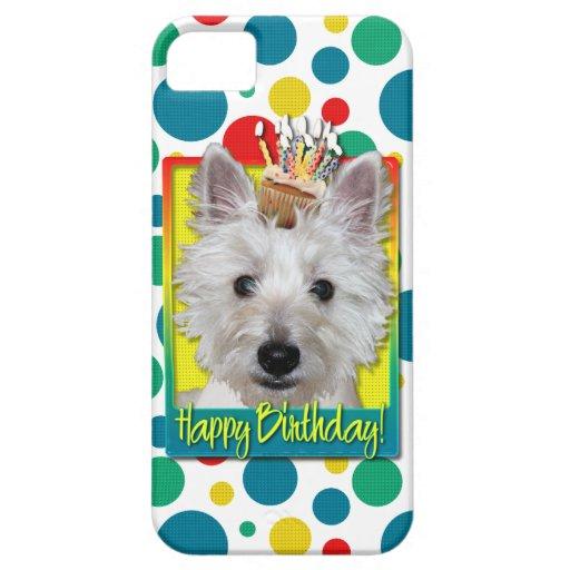 Birthday Cupcake - Westie - Tank iPhone SE/5/5s Case