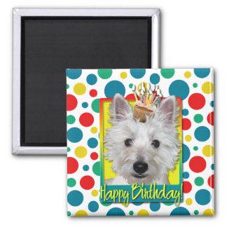 Birthday Cupcake - Westie - Tank Fridge Magnets