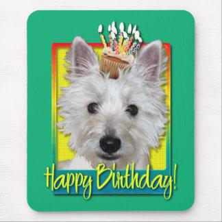 Birthday Cupcake - Westie - Tank Mouse Pad