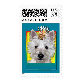 Birthday Cupcake - Westie - Tank Stamp