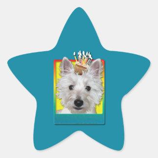Birthday Cupcake - Westie - Tank Stickers