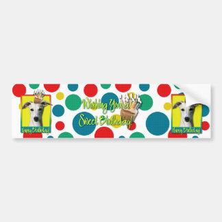 Birthday Cupcake - Whippet Bumper Sticker