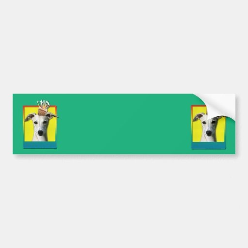 Birthday Cupcake - Whippet Bumper Stickers