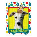 Birthday Cupcake - Whippet Postcard